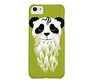 Panda Beard iPhone 5c Citron Barely There Phone Case - Design By Humans