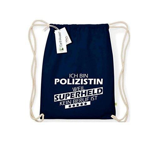 Shirtstown Orgánico Saco de gimnasia Estoy Mujer policía, weil Superheld sin Trabajo ist Azul