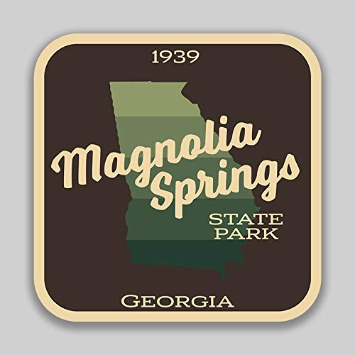 JMM Industries Magnolia Springs State Park GeorgiaVinyl Decal Sticker Car Window Bumper 2-Pack 4-Inches by 4-Inches Premium Quality UV Protective Laminate SPS00925