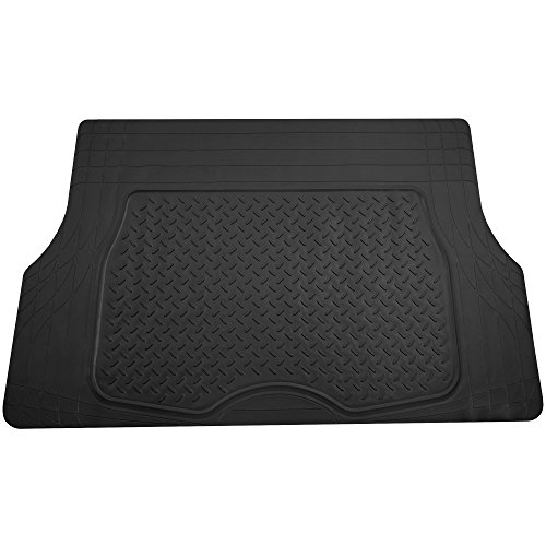 FH Group F16401BLACK Black Trimmable Cargo Mat/Trunk Liner (Premium Quality Trimmable Cargo Mat/Trunk Liner) (Nissan Versa 2011 Cargo Cover)