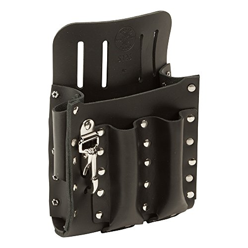 Leather Tool Pouch with Knife Snap, 5-Pocket  Tools - Klein 5126