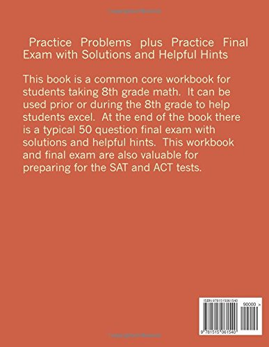8th Grade Common Core Math Workbook: Additional Problems to ...