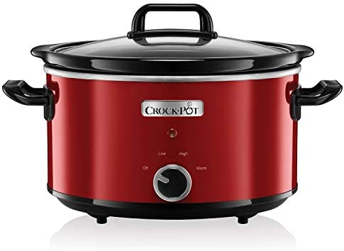 Crock-Pot , 210 W, 3.5 litros, Acero Inoxidable, Rojo