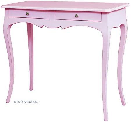 Artigiani Veneti Riuniti Mesa consola rosa, mueble rosa, mesa ...