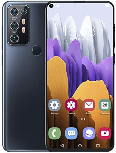 Note30UPro Unlocked Smartphone, 7.2in HD Ultra Screen Mobile Phone, 8+128G Dual Sim Fingerprint Unlocked Cell Phones, Built-in 5000mAh Battery, Free 128G Memory Card for Android 10.0 Black(US)