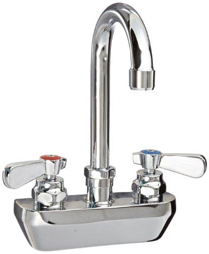 John Boos PBF-4SM-3GLF Heavy Duty Gooseneck Faucet, for ProBowlSinks, Low-Lead, 4