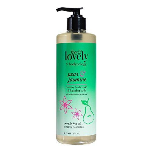 Jasmine Bath Foaming (bodycology Free & Lovely Pear & Jasmine Wash & Foaming Bath 16 fl oz, pack of 1)