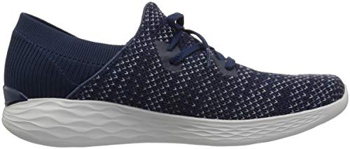 Prominence Mujer Azul You sin Gris Skechers Cordones para Zapatillas CUgqB4w5