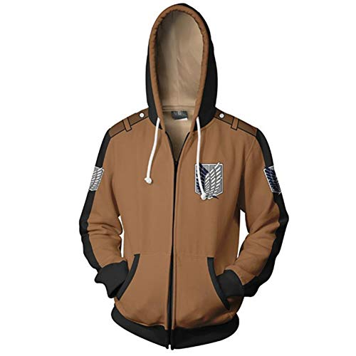 Mikucos Attack on Titan Scout Regiment Erwin Jacket Coat Hooded Hoodie Swater Costume Cosplay -