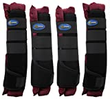 TackRus Horse Stable Shipping Boots Wraps Front Rear 4 PK Leg Care Premium 4120BG