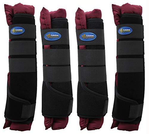 TackRus Horse Stable Shipping Boots Wraps Front Rear 4 PK Leg Care Premium 4120BG