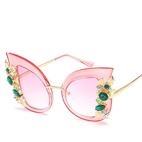 Gato Gris De Gafas Sol Gafas Uv400 Mujeres pink TIANLIANG04 De Gato Negro De Ojo Ojo FHaABwxqE