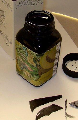 Black Ink Refill Bottled - Noodler's Ink Refills Wardens Bad Black Moccasin Bottled Ink - ND-19061