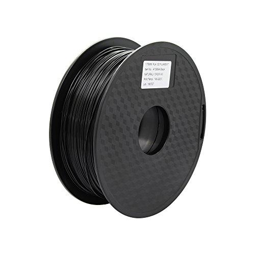 Anycubic 3D Printer PLA Filament Schwarz für 3D Drucker - 1,75mm - 1kg Spule (Schwarz)