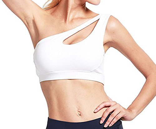 9f7e1b3e36 Helisopus Womens One Shoulder Sports Bra Cute Sexy High Impact Workout Bra  Sports Running Bras