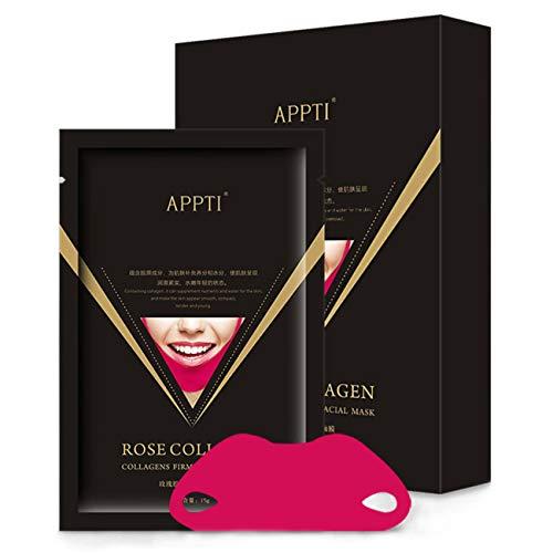 Maikoa 2019 Miracle V-Shaped Slimming Mask,V-Line Cheek Chin Slimming Mask Anti Cellulite Skin Care Beauty 5pcs (Best Skin Care Line 2019)