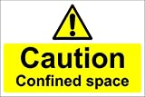 chengdar732 Caution Confined Space Safety Sign - Self adhesive sticker 150mm x 200mm