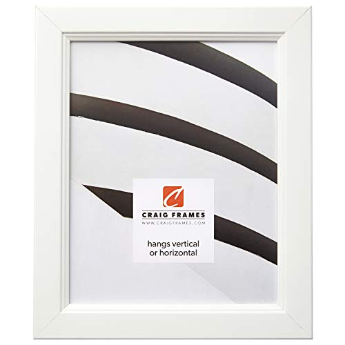 20x32 Poster Frame, Smooth Finish, 1.26'' Wide, White, .093'' Acrylic, Foamcore (61999WH) by Craig Frames
