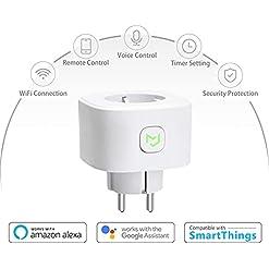 Enchufe Inteligente 16A 3680W, con Control Remoto Meross app, Compatible con Alexa, Google Assistant y SmartThings, Wi-Fi Smart Plug.