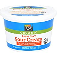 365 Everyday Value, Organic Low Fat Sour Cream, 16 oz