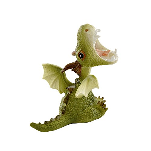 Top Collection Miniature Fairy Garden and Terrarium Statue, Mini Dragon Roaring