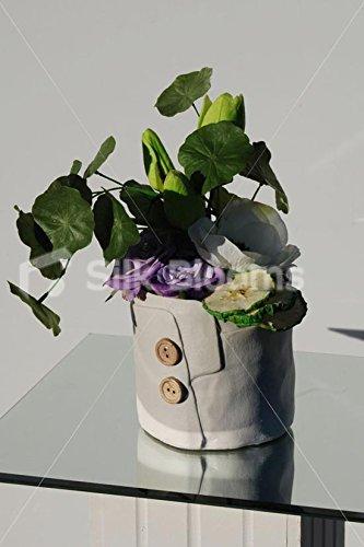 Artificial-Green-Tulip-Anemone-Ceramic-Button-Vase-Display