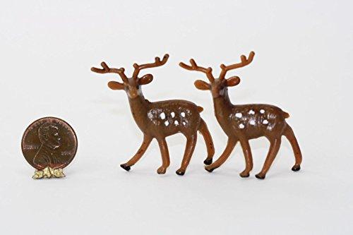 Reindeer Miniature - Dollhouse Miniature 1:12 Scale Brown Shabby Look Reindeer
