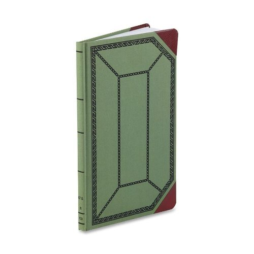 (Boorum & Pease Canvas Account Book, Record, 16 Lb., 12 1/2 x 7 5/8-Inches, 150 Pages, Olive Green (67 1/8-150-R) by Boorum & Pease)