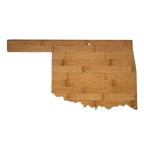 - Totally Bamboo 20-7979OK Oklahoma State Shaped Bamboo Serving & Cutting Board,