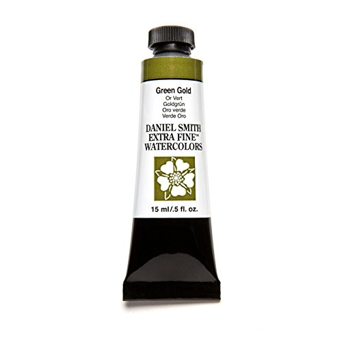 DANIEL SMITH Extra Fine Watercolor 15ml Paint Tube, Green Gold, 15 ml