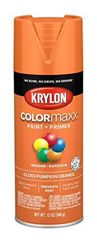Krylon K05532007 COLORmaxx Spray Paint, Aerosol, Pumpkin -
