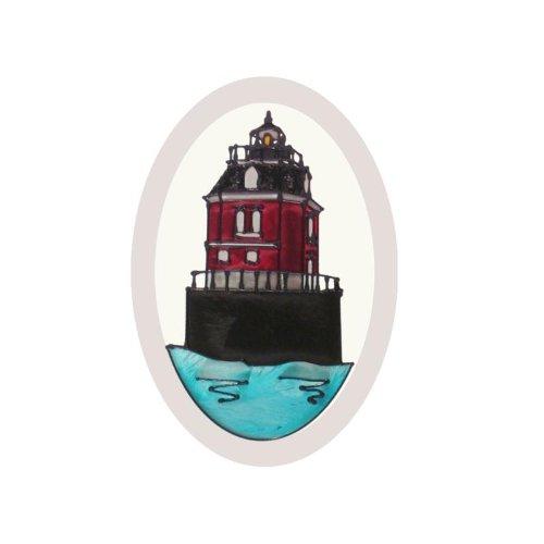 (Maryland Sandy Point Lighthouse Painted Glass Suncatcher O-1053)