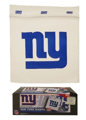 New York Football Team Storage Bags (100, NY Giants Sandwich bags)