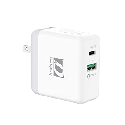 USB C PD Wall Charger + QC 3 0,2 Ports Fast Power Delivery Adapter for  Google Pixel 2/2XL, Switch,Samsung S8 and More (White) …