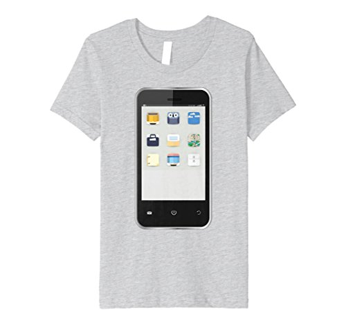 Kids Cell Phone T-shirt Easy Group Halloween Costume Idea 8 Heather Grey -