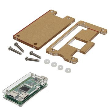 Price comparison product image Arduino Compatible SCM & DIY Kits Raspberry Pi & Orange Pi - Transparent Case For Raspberry Pi Zero W USB-A Addon BadUSB Board - 1x Acrylic Case(with screws)