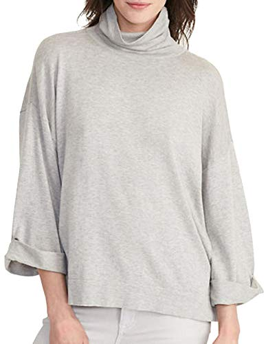 Lauren Ralph Lauren Petite Three-Quarter-Sleeve Jersey Sweater (Platinum Heather, PM)