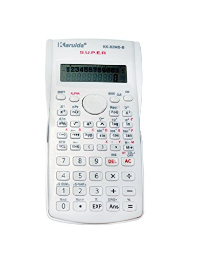 Scientific Calculator, Engineering Calculator, 2-line Display, for High School Students, College Students and Professionals (white)