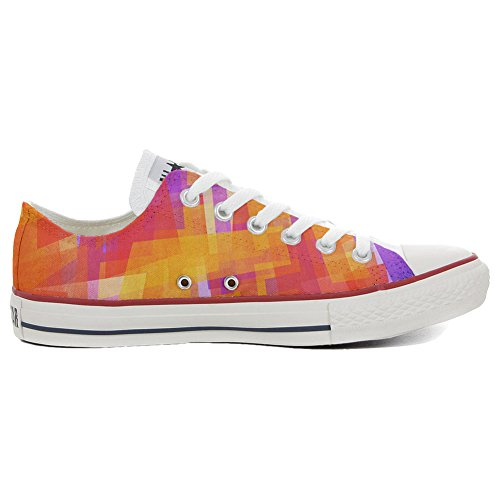 Adulte Artisanal Chaussures produit Coutume Converse abstract Customized Slim gzx4a