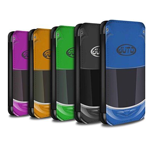 Stuff4 Coque/Etui/Housse Cuir PU Case/Cover pour Apple iPhone 7 Plus / Pack 10pcs Design / Casque Moto Collection