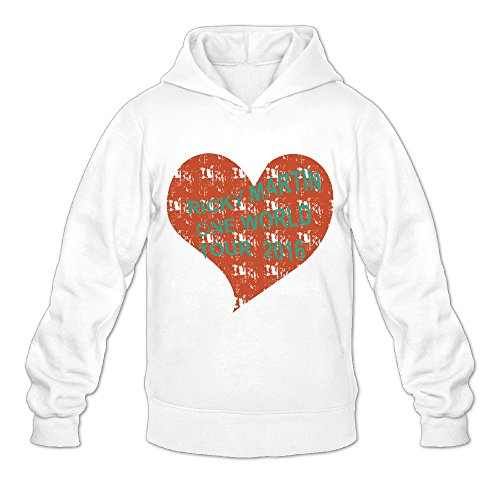 Vintage Love Ricky Martin One Word Tour Classic Men's Hooded Sweatshirts White M -