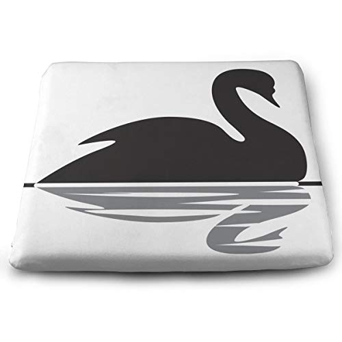 Comfortable Seat Cushion Chair Pad Black Swan Swimming Perfect Memory Foam Cushions Lighten The Bumps (Best Probiotic For Memory)