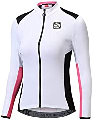 Santic Women's Cycling Jersey Shorts Seeve Bicycle Jacket Bike Shirt Breathable Quick Dry Reflective Biking To
