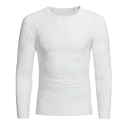 Aimee7 Inverno Knit Maglione Casual Bianco Sweat Slim Maglioni Uomo Girocollo Autunno Tops tqtZxwrF8