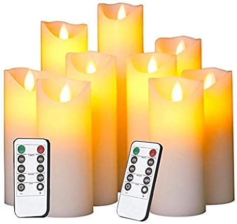 LED Candles Flameless Battery Flickering Light Operated Timer Remote Control NEW
