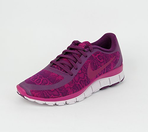Nike W Nk Free 5.0 V4 Ns Pt - Zapatillas para mujer Multicolour (Mulberry/Venedig/Sport Fuchsie)