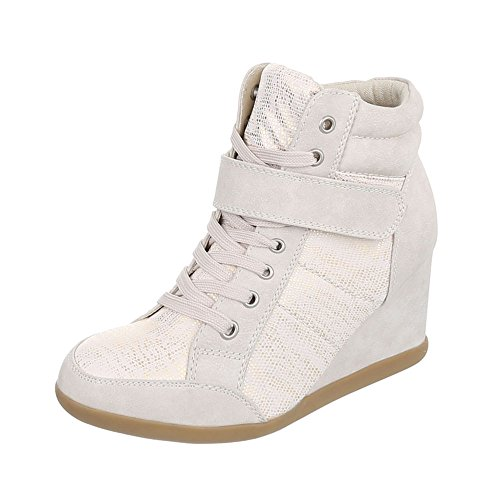 mode Ital Design Chaussures Sneaakers Compensé Baskets femme Espadrilles high R0xxqEvBw4