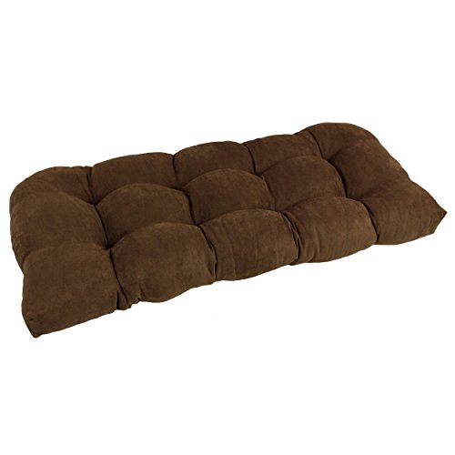 Blazing Needles U-Shaped Microsuede Tufted Settee/Bench Cushion, 42