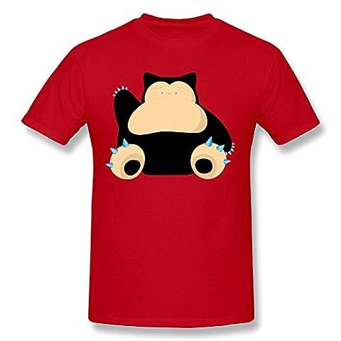 TTATT Men's Snorlax Crew-neck Casual T Shirt Red - Louis Cardinals Fiber