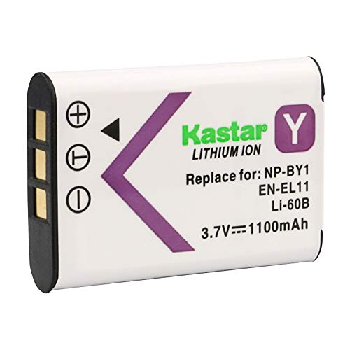 Xacti Camera Battery - Kastar Digital Camera Replacement Lithium-Ion Battery Compatible with Olympus LI-60B, Nikon EN-EL11, Pentax D-LI78, Sony NP-BY1, Ricoh DB-80